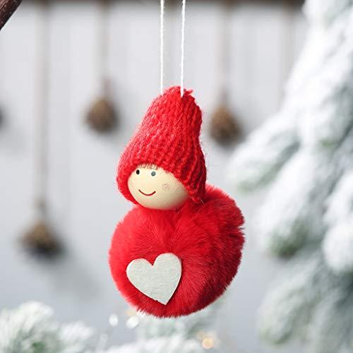Daygeve Zuhause Party Deko, Anatomische Tracing, Medizinische Lehre, Halloween Dekoration Statue,Weihnachten Plüsch Ball Anhänger niedlichen Mini Schneemann hängen Pompon Puppe - Niedlichen Baby Monster Kostüm