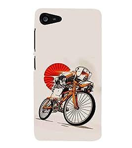 Fiobs Designer Back Case Cover for Lenovo ZUK Z2+ :: Lenovo Zuk Z2 Plus (Cycle Bicycle Sun Surya Wheels Bike )