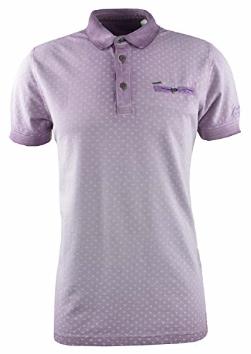 """Herren Poloshirt """"Short Sleeve Light Pique"""" Kurzarm Lila"""