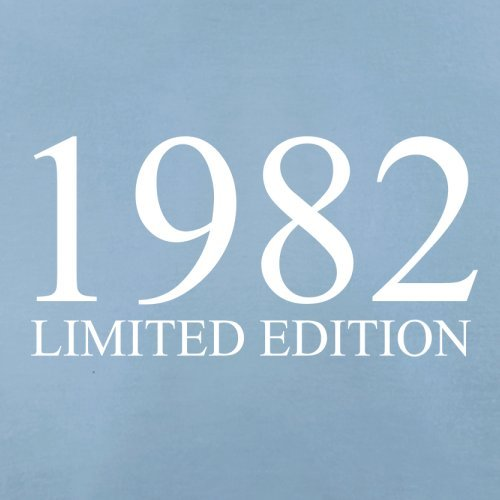 1982 Limierte Auflage / Limited Edition - 35. Geburtstag - Herren T-Shirt - 13 Farben Himmelblau