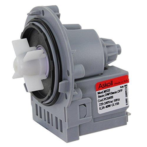 Ablaufpumpe Pumpe spares2go Einheit für Samsung Waschmaschine (M332, 40W) -