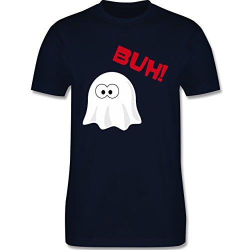 Halloween - Kleiner Geist Buh süß - 3XL - Navy Blau - L190 - Herren T-Shirt Rundhals