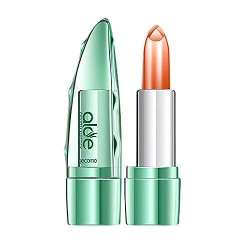 WOZOW Rossetti Lucidalabbra Aloe Vera biologica Jelly Lipstick cambia colore Labbro idratante alla temperatura