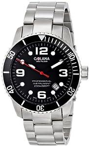Golana Aqua Pro Swiss AQ200.2 - Reloj de caballero de cuarzo, correa de acero inoxidable color plata de Golana