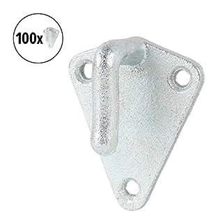 APT Tarpaulin Hook Metal with Eyelet 40 x 45 mm Triangle Galvanised Steel Mesh Hook Pendant