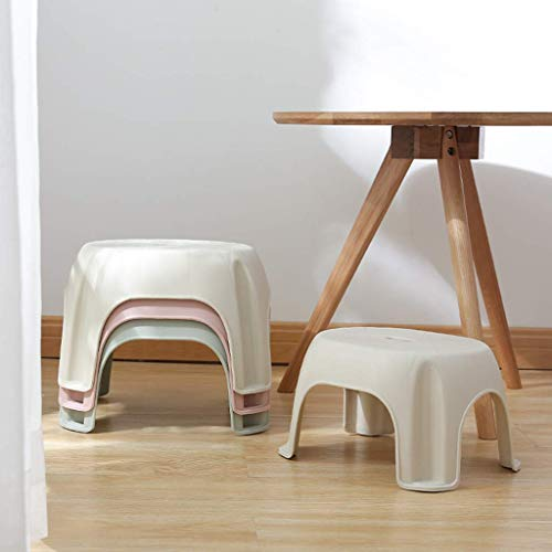 DEED Startseite Stuhl Hocker Klappstuhl-Runde Kunststoff Stapelhocker Schachtelhocker Kleine Tritthocker Stuhl für Kinder Spa Duschsitz Ideal für Töpfchen Moderne Hocker für Badezimmer Schlafzimmer S