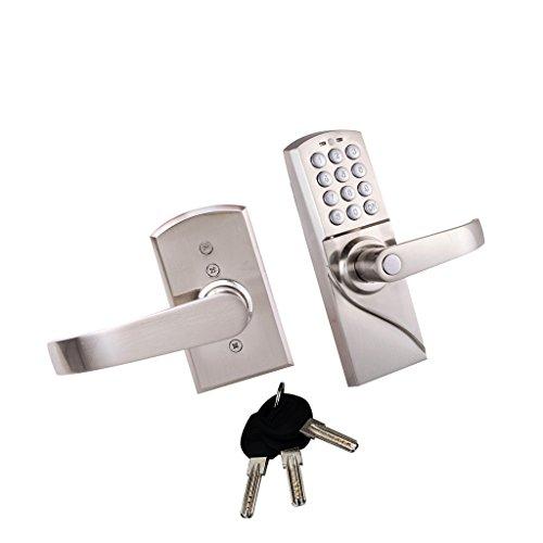 MagiDeal Código Electrónica Digital de Entrada de Seguridad Entrada Cerradura de Puerta Sin Llave - Manija derecha