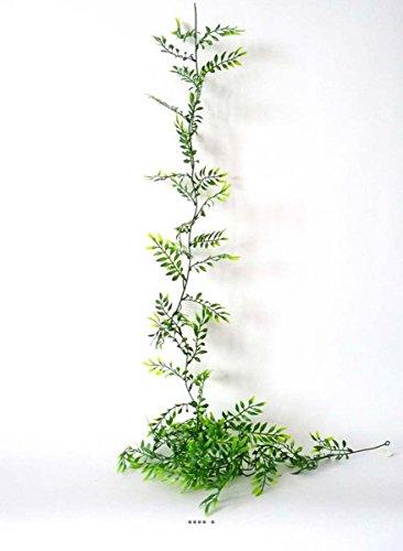 Artif-déco - Guirlande de 60 feuilles feuillage artificielle plastique l 180 cm