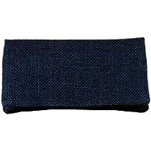 TABAQUERA Plan B Yute - YOLO Saco azul - Funda para tabaco de liar. Compartimentos para boquillas, papel y picadura. BOLSA INTERIOR EXTRAÍBLE de goma EVA, humedad controlada. 100% hecha en España
