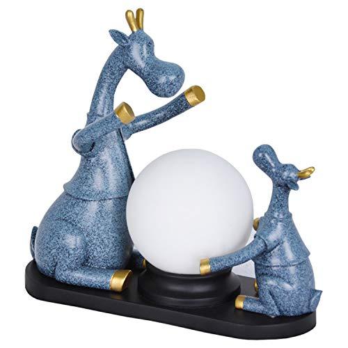 einfache tischlampe, augenschutz, Schlafzimmer, Wohnzimmer, Studie, Dekoration, Multi-Color optional Tischlampe (Color : Navy Blue) ()