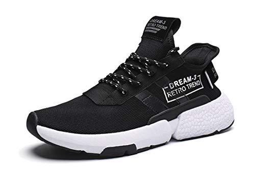 Veluckin Scarpe Sportive da Uomo Sneaker per Esterno,Nero,46EU