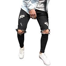 zapatos deportivos 65b50 0afee Amazon.es: Pantalones Tejanos - Negro