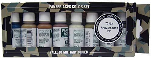 Vallejo Airbrushfarben Panzer Aces Set No2 17ml Airbrush Farben 570123