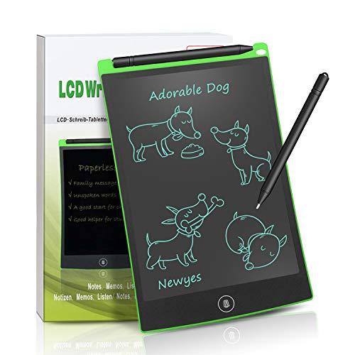 NEWYES NYWT850 - 8,5 pulgadas tableta gráfica portátil y pizarra blanca resistente, tableta de dibujo adecuada para el hogar, escuela, oficina, cuaderno de notas, 1 año de garantía (verde)