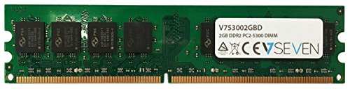 V7 V753002GBD Desktop DDR2 DIMM Arbeitsspeicher 2GB (667MHZ, CL5, PC2-5300, 240pin, 1.8 Volt) -