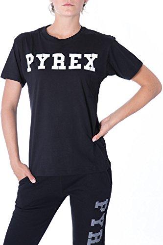 pyrex-t-shirt-donna-stampata-regular-fit-33008-xs-nero