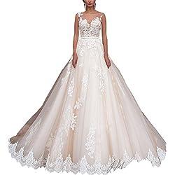Changjie Mujeres Vestidos de novia 2017 vestidos de novia blanco