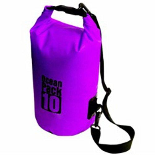 , World Camping Ocean Pack Schultern Driften Paket Waten Wasserdichte Tasche Schwimmen bag-purple