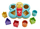 Six chunky, colorful shapes to help baby's fine motor skills take flight. This fun butterfly friend comes with six colorful shapes for fill-and-spill and sorting fun. Even the youngest baby can remove the top for put-and-take play. As baby grows, fit...