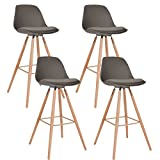 Best Tabourets de bar - IDMarket - Lot de 4 Tabourets de Bar Review