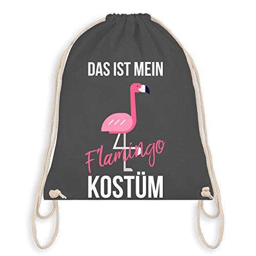 Karneval & Fasching - Das ist mein Flamingo Kostüm - Turnbeutel I Gym Bag Dunkelgrau