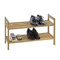 Wenko 18616100 Norway Walnut Wood Shoe Shelf, 69 x 40.5 x 27 cm