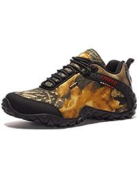 Suetar Scarpe da Escursionismo da Uomo Tomaia in Tessuto Oxford Camouflage Scarpe  da Trekking Impermeabili e d0535174e46