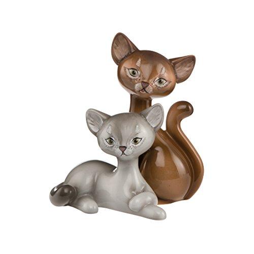 Goebel Somali Kitty In Love, Kitty De Luxe, Katzenpaar, Katze, Figur, Dekoration, Porzellan, 66800871