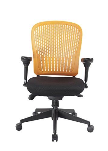 Arancione e-last- Flessibile Mid-Back operatori Poltrona con finitura cromo o nero base