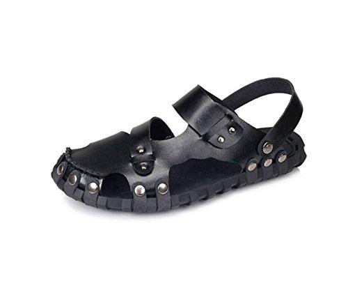 Ar Sapatos Praia De Preto Livre Homens Ao Vadeando Sandálias qrqvpwU