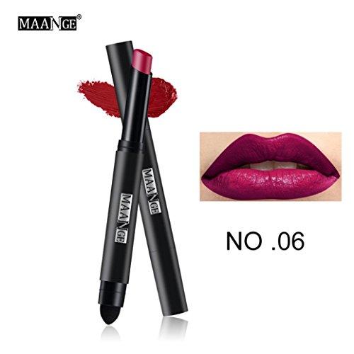 ESAILQ 12 couleurs Crayons à lèvres Longue durée Matte Lip Gloss Cosmétique imperméable à Lèvres (F)