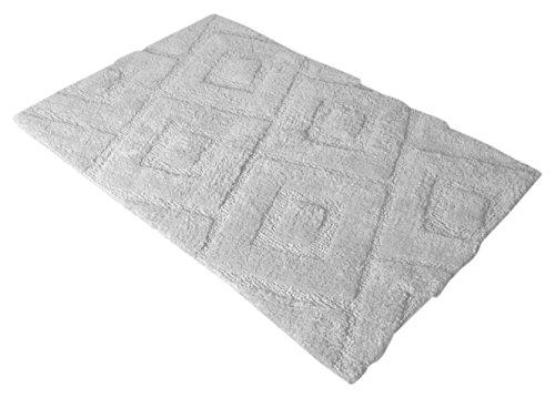 Home PASSION alfombra de baño rectangular de color blanca 100% algodón 40x 60cm 1500gr/m²–calidad superior algodón blanco 60x 40cm