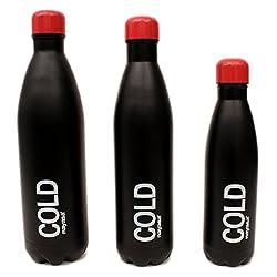 Nayasa Ebony Bottle Red & Black Set Of 3 small medium , large