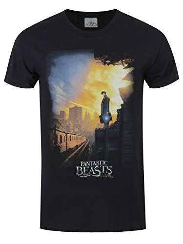 Fantastic Beasts and Where to Find Them T-Shirt Train da uomo in nero
