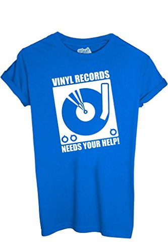 T-SHIRT DISCO VINILE - MUSICA by MUSH Dress Your Style Uomo-M