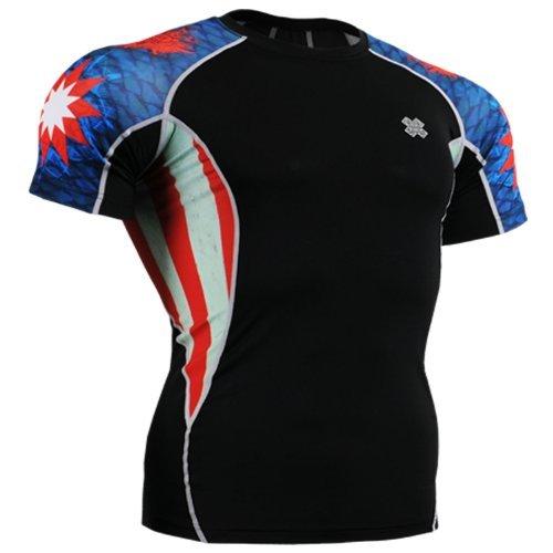 Fixgear Mens Womens Compression Spandex Tight Running Baselayer Shirts