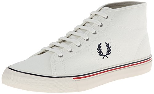 Fred Perry Sneaker shoes kend Rick Mid Canvas White woll white size 45 / UK 10