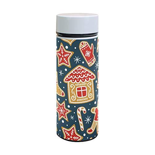 (Thermoskanne für Kinder, Weihnachtsmotiv, Edelstahl, Thermosflasche, Thermoskanne, Thermoskanne, Thermosbecher, 350 ml)