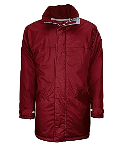 Alexandra STC-NU332BU-M Winter Parka, Plain, 100% Polyurethane-Coated Polyester, Size: Medium, Burgundy