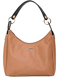 Heart Held Woman's Hand Held Bag Beige