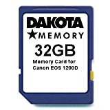32GB Memory Card for Canon EOS 1200D