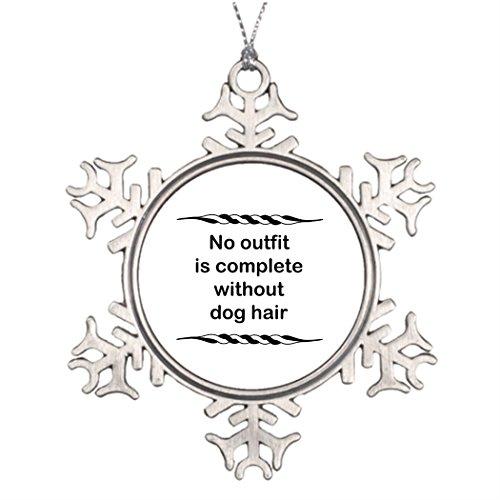 Moc Moc Baum-Dekoration, kein Outfit, ohne Hundehaare, Weihnachtsdekoration, Fotorahmen, Schneeflocken-Ornamente -