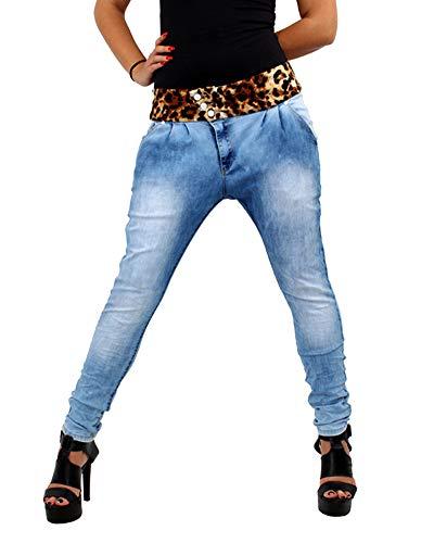 DianShaoA Vaqueros Talla Grande Mujer Estampado Leopardo