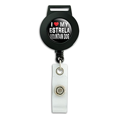 i-love-my-estrela-mountain-dog-stylish-lanyard-retractable-reel-badge-id-card-holder
