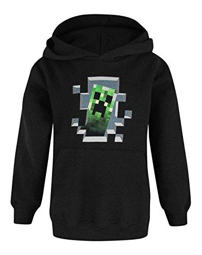 Minecraft - Sudadera oficial Minecraft modelo Creeper para niños (Añ
