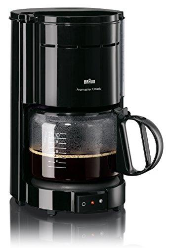 Braun KF 47/1 Filterkaffeemaschine | Kaffeemaschine für klassischen Filterkaffee | Aromatischer Kaffee dank OptiBrew-System | Tropfstopp | Abaschaltautomatik | Schwarz - 1 Tasse Kaffee-filter