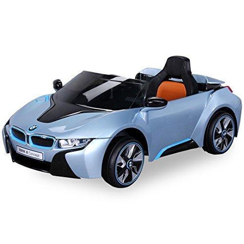 *NEU Kinder Elektroauto Lizenzierter Original BMW I8 mit 2 x 45 Watt Motor Elektro Kinderauto Kinderfahrzeug (Hellblaumetallik)*