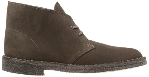 Clarks Mens Desert Boot in Black Suede Braun