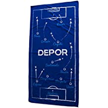 Real Club Deportivo de La Coruña Toadep Toalla, Azul/Blanco, Talla Única