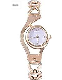 POOJA FASHION New Arrival Special Collection New Arrival Festive Season Special Analog Gold Dial Silver Stainless...